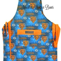 Chicago Bears Apron, Mens Apron, Womens Apron, Bears Tailgating Game Day Apron