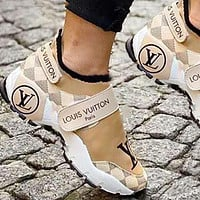 Louis Vuitton Women Shoes Velcro Toes Letters With Shoes Tail Letters Sneakers