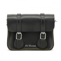 Dr. Martens Black Kiev Leather Satchel - 7-Inch