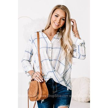 Had A Change Of Heart Plaid Top | Blue