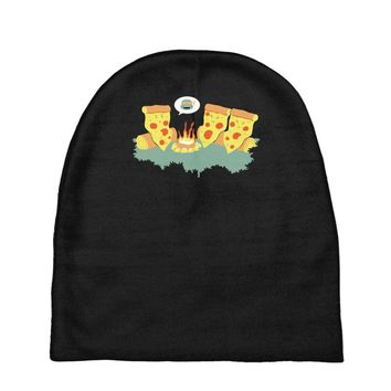 pizza campfire story Baby Beanies