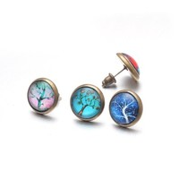 U2U Jewelry 3 Pairs / 6 PCs Handmade Retro Vintage Alloy Earrings With Inlay Mysterious Tree Pattern For Men Women
