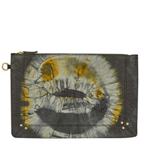 Jerome Dreyfuss Yellow Tie and Dye Fabric Popoche Clutch | Accessories | Liberty.co.uk