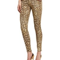 7 For All Mankind Women's Slim Fit Jean in Cheetah Print
