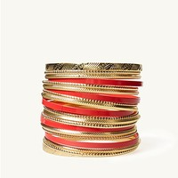 Color Pop Embossed Bangles