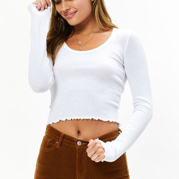 Me To We Blue Light Long Sleeve Top at PacSun.com