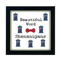 Dr Who Shenanigans - Counted Cross Stitch Pattern - Instant Download