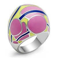 TK250 - Stainless Steel Ring High polished (no plating) Women No Stone No Stone