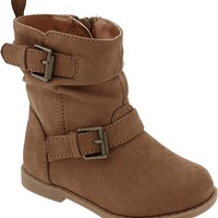 Sueded Buckle Boots for Baby