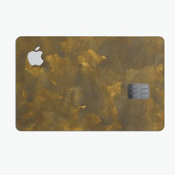 Grungy Golden Fog V1 - Premium Protective Decal Skin-Kit for the Apple Credit Card