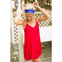 Color My Soul Red Ruffle Dress