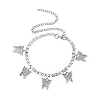 Kaura Butterfly Anklet - Silver