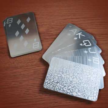 Stainless Steel Playing Cards - buy at Firebox.com