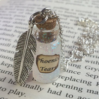 Phoenix Tears Bottle Necklace / Pendant / Bookmark / Earrings / Decoration / Keyring inspired by Harry Potter