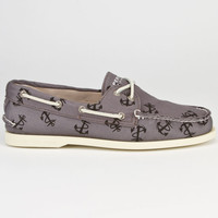 Sperry Top-Sider Authentic Original Mens Boat Shoes Tattoo Grey  In Sizes