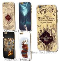 Transparent Clear Case Cover for iPhone 6 6s 6 plus Harry Potter Marauders Map Skin