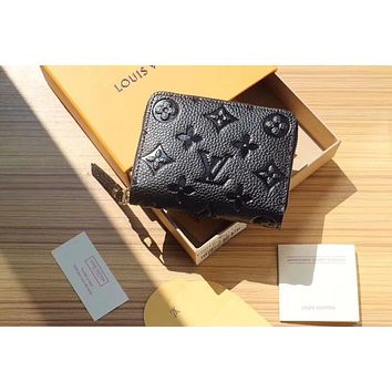 LV Louis Vuitton MONOGRAM Empreinte LEATHER ZIPPY WALLET