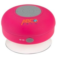 Abco Tech Water Resistant Wireless Bluetooth Shower Speaker with Suction Cup and Hands-Free Speakerphone, Pink