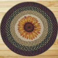Sunflower Round Patch Rug