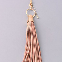 Leather Tassel Necklace (two color options)