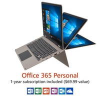 "11.6"" Convertible Touch Laptop, Windows 10 Home, Office 365 Personal"