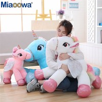 1Pc 60/90cm Cute Unicorn  Horse Plush Toy Colorful Stuffed Animal Baby Doll Kids Children Appease Toy Birthday Gift for Girls
