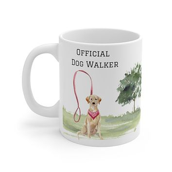 Official Dog Walker Mug — Yellow Lab