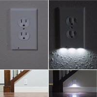 Soft Comfortable Lighting Plug Cover LED Night Light Wall Outlet For Hallway Bathroom Bedroom