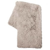Gray Long Faux Fur Throw - Xhilaration™