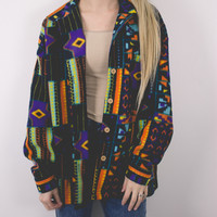 Vintage Tribal Fleece Jacket