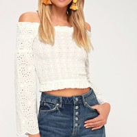 A-Line Medium Wash Distressed Denim Skirt