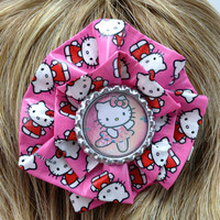 Pink Hello Kitty Duct Tape Hair Clip by PyrateWench on Etsy