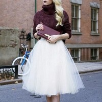 Tulle couture fashion skirt