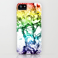 Rainbow Water play iPhone Case by Karl Wilson Photography