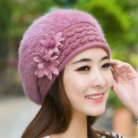 Winter Hat For Women Colours Knitted Beret Winter Hat