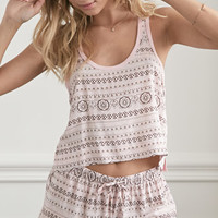 Ornate Striped PJ Set