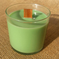 Wood Wick Soy Candle - Cucumber Melon - 100% Organic