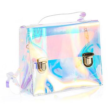 Holographic Clear Shoulder Bag