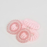 ASOS Pack of 5 Pink Mini Jelly Hair Coils at asos.com