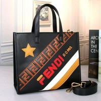 Fendi Women Shopping Leather Tote Crossbody Satchel Shoulder Bag Handbag