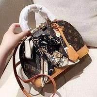 Louis Vuitton LV Popular Women Classic Retro Leather Handbag Satchel Crossbody Shoulder Bag