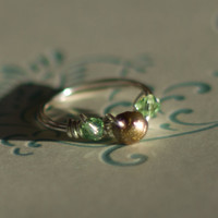 Tinkerbell or Princess Tiana Ring  Wire Wrapped by SassiChic