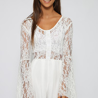 Spaceman Playsuit - White