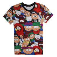Summer Tee Short Sleeve Slim Cartoons 3D T-shirts = 4810510148
