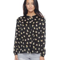 True Rose Printed Blouse by Juicy Couture