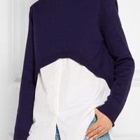 Opening Ceremony - Elliptical cropped wool sweater