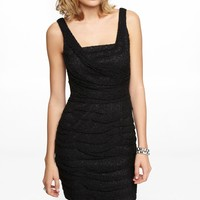 RUCHED LACE DRESS
