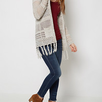 Gray Pointelle Cardigan By Sadie Robertson X Wild Blue