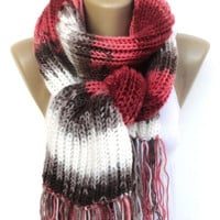 knit scarf ,hand knitted women scarf / long scarves / colorful scarf / winter fashion / neckwarmer