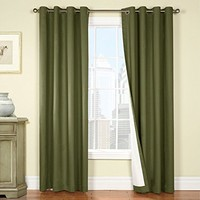 jinchan Thermal Insulating Backing Energy Efficient Blackout Curtains / Drapes for Living Room (1 Panel, 50 x 84 inches, Sage)